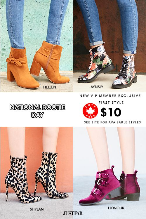 Hey Girl! National Bootie Day Is Here - Get Your First Pair of Booties for Only $10! Take the 60 Second Style Quiz to get this exclusive offer!