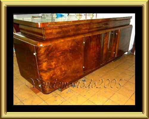 Mueble Bajo Aparador Art Deco Raiz De Nogal
