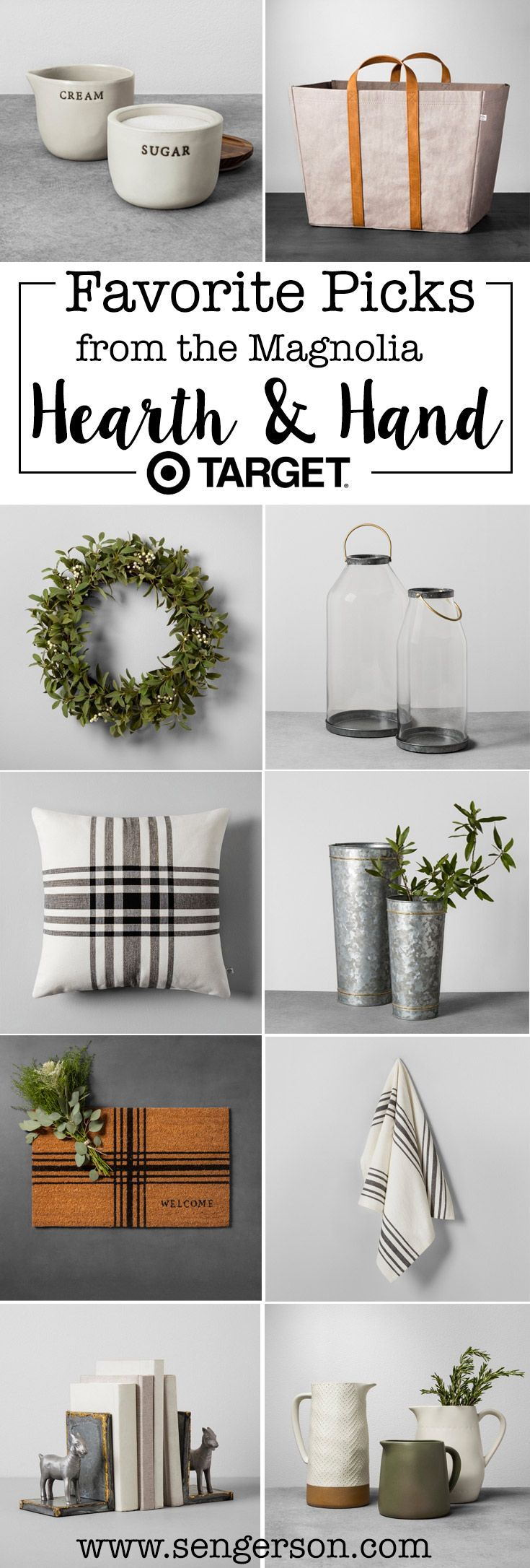 The best of the Hearth and Home Collection from Fixer Upper Magolia Homes stylist Joanna Gaines. I love how it has a farmhouse style appeal mixed with a mid-mod vibe! Loving these every day items!!
