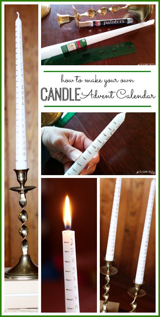 this idea is so fun and so simple - love it!!   how to make a candle advent calendar - - Sugar Bee Crafts