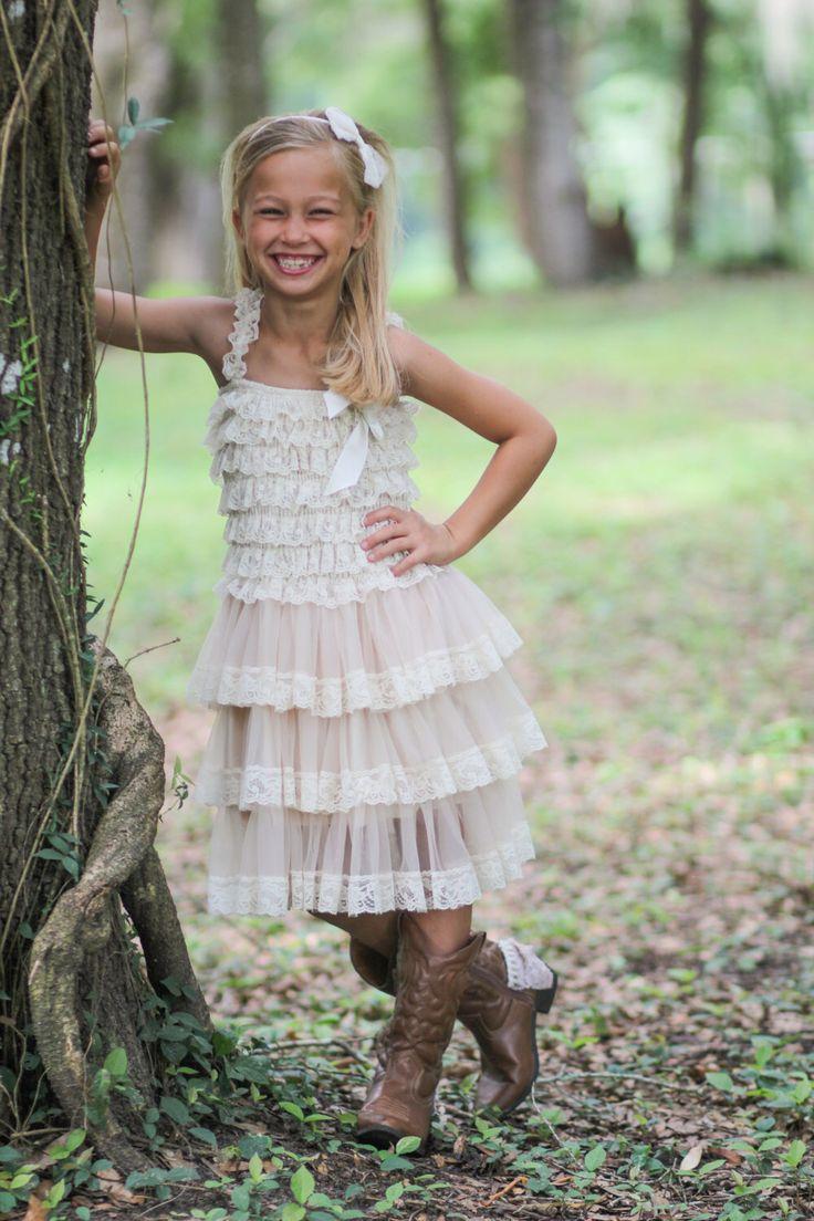 Rustic wedding flower girl dresses   best New Flower girl Dresses images on Pinterest  Bridesmaid