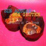 Muffin de chocolate con leche SIN AZUCAR Y SIN GLUTEN. Tolerado por diabéticos y por celíacos