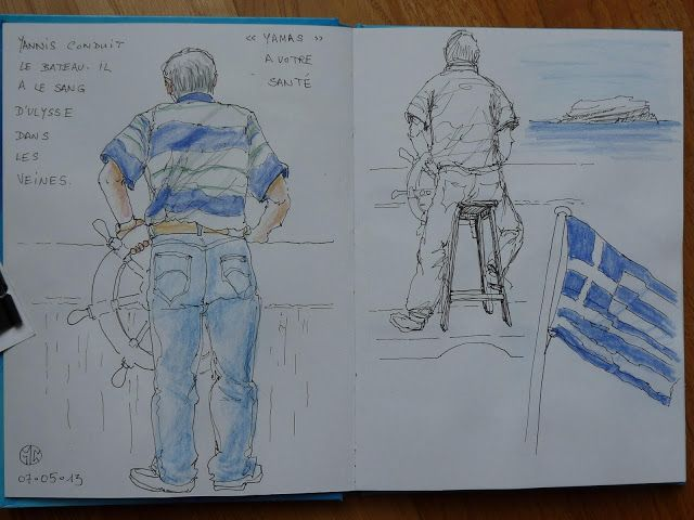 Urban Sketchers Paris: Santorin 1