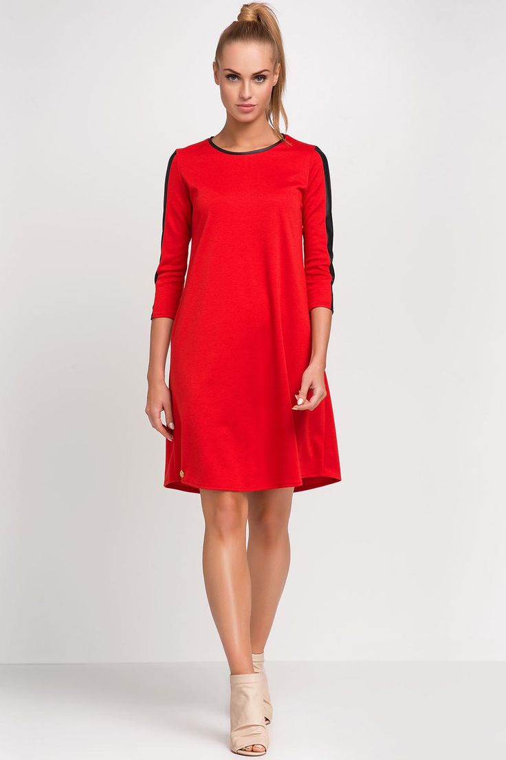 Sukienka Model M237 Red #modadamska #moda #sukienkikoktajlowe #sukienkiletnie #sukienka #suknia #sukienkiwieczorowe #sukienkinawesele #allettante.pl