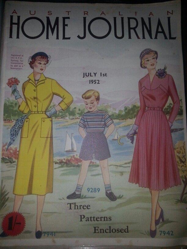 Australian home journal July 1952 cover