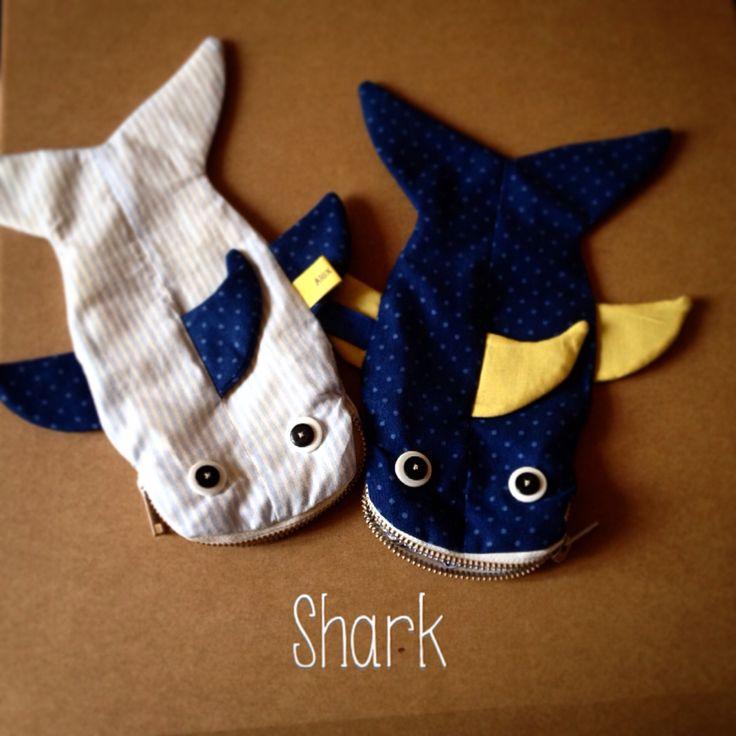 Shark case for school