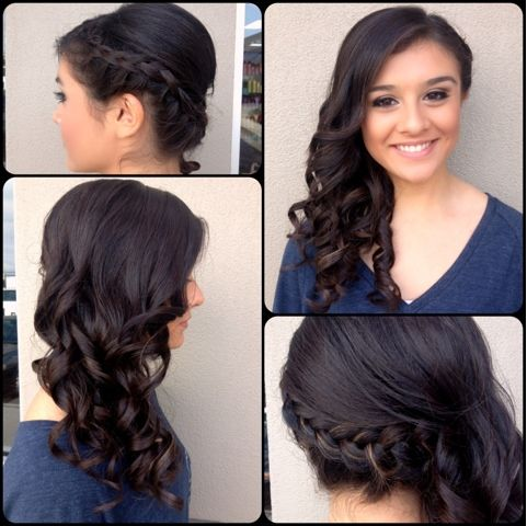 Groovy 1000 Ideas About Side Curly Hairstyles On Pinterest Curly Short Hairstyles Gunalazisus