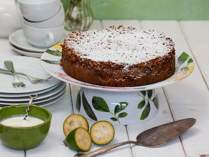 This cake almost disguises the taste of the fruit, but feijoa lovers will still delight in the delicate flavour. Recipe by Jane Rangiwahia.