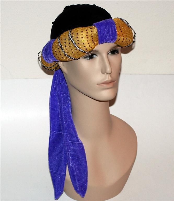 ALADDIN Genie Arabian Nights TURBAN Hat HEADGEAR COSTUME Accessory S/M New #Loftus #ArabianNights