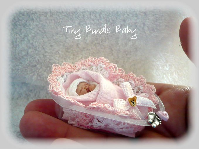 Ooak Baby Doll Bundle Baby Girl / Dolls House / Handmade by Artist