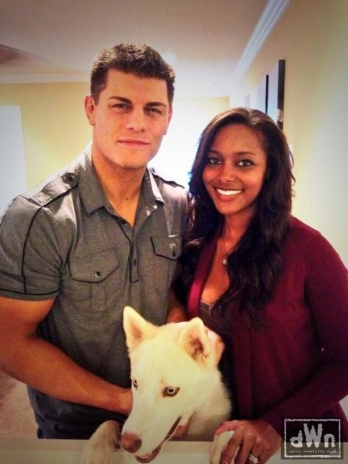 WWE Wrestler Cody Rhodes and his wife Brandi Reed #bwwm