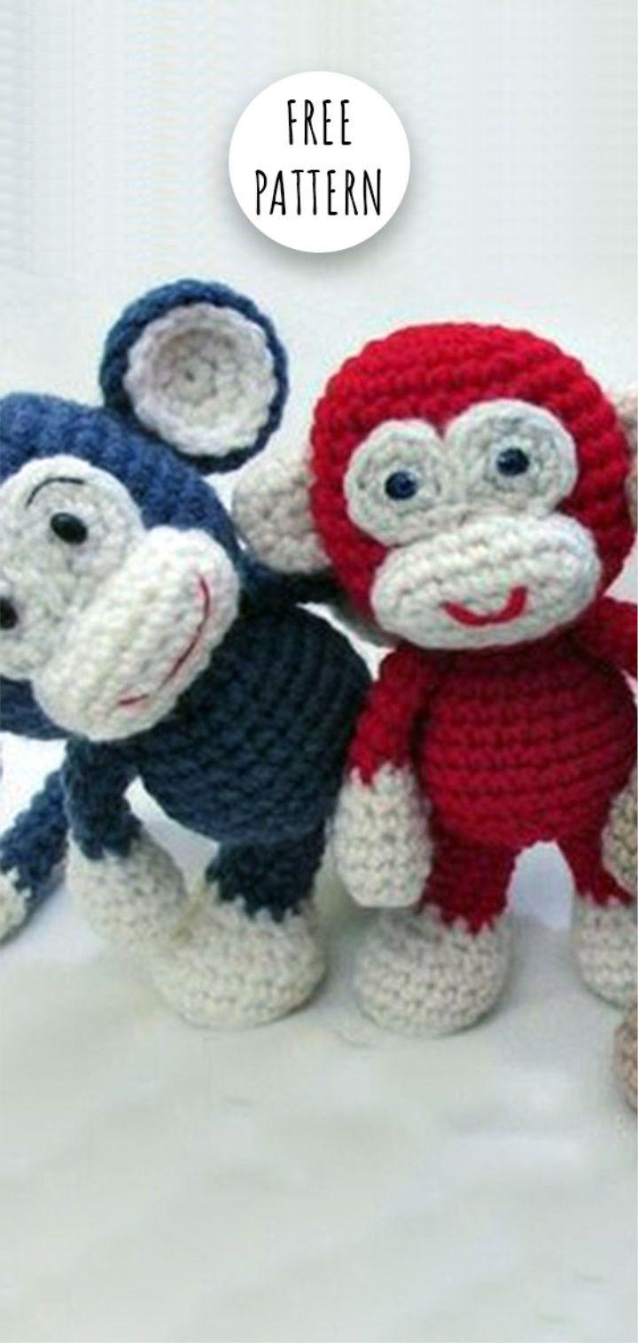 Amigurumi Monkey Free Pattern | Crochet | Pinterest | Amigurumi ...