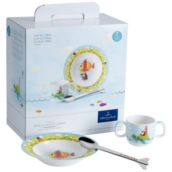 Villeroy & Boch Chewy around the world Baby set 3pcs.-00
