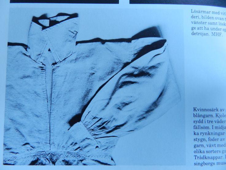 Smock. Luggude woman. Picture from the book ´Skånska dräkter - kvinnodräkten i Malmöhus län´ by Gertrud Ingers.