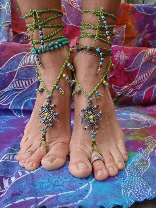 Feet jewelry - I like the colors