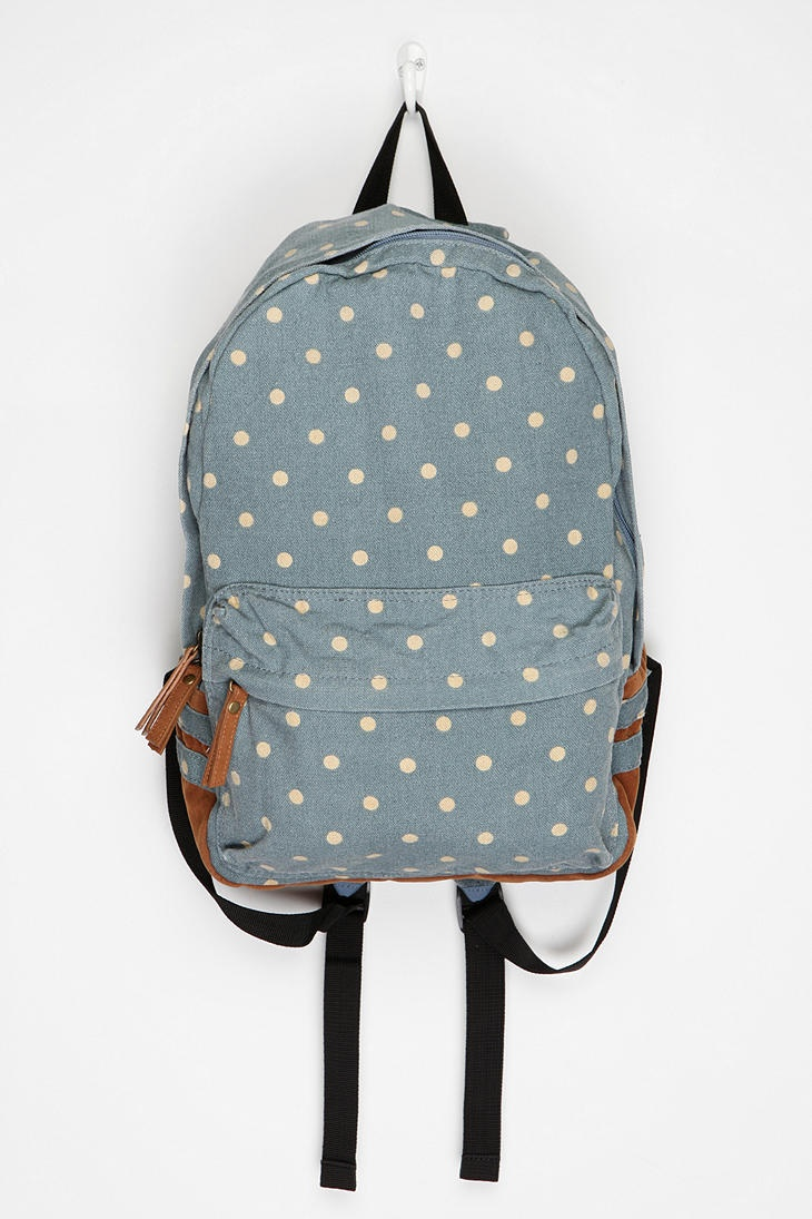 Carrot Polka Dot Backpack  #UrbanOutfitters buying it :)