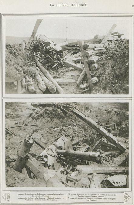 WWI, Sept 1916, La Guerre Illustrée; Somme, Pozieres. -Gallica