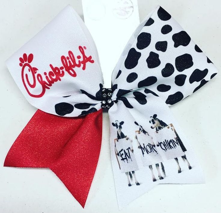 Bows by April - Chick-Fil-A Sublimated Cheer Bow, $15.00 (http://www.bowsbyapril.com/chick-fil-a-sublimated-cheer-bow/)