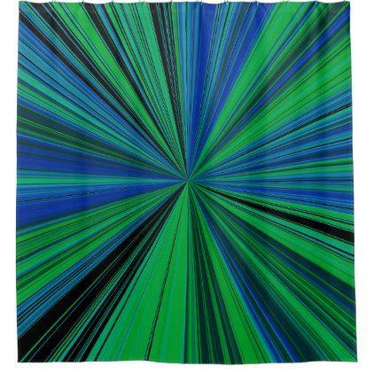Focal Blue Green Shower Curtain - shower curtains home decor custom idea personalize bathroom