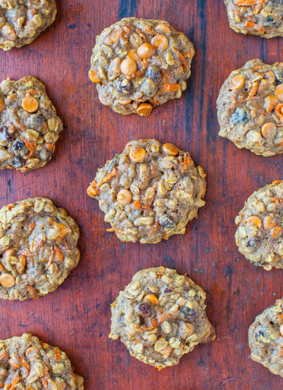 Soft and Chewy Spiced Carrot Cake Cookies  Good - but original recipe too dry? I had to add milk. And perhaps a bit more sugar as not sweet enough.