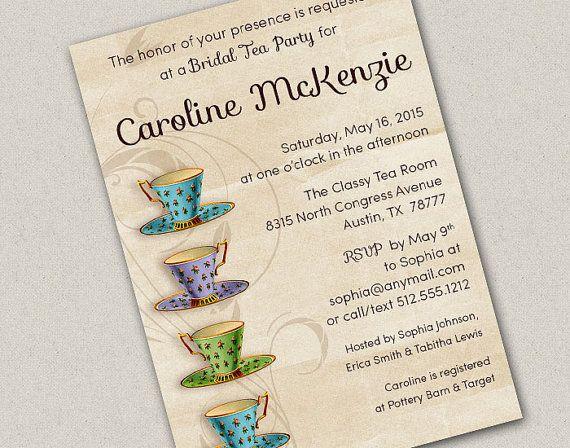 87 best the tea party images on pinterest tea party invitations four pretty teacups bridal tea party invitation by freshlycutcards stopboris Choice Image