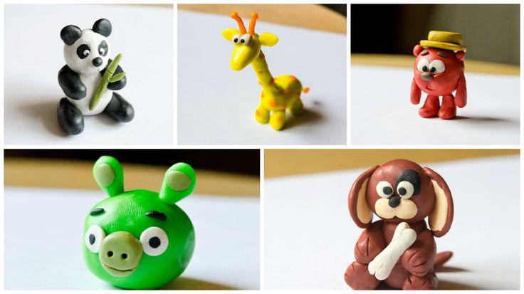 30 идей поделок из пластилина для детей. Создание с пошаговыми фото!  #рукоделие #игрушки #хендмейд