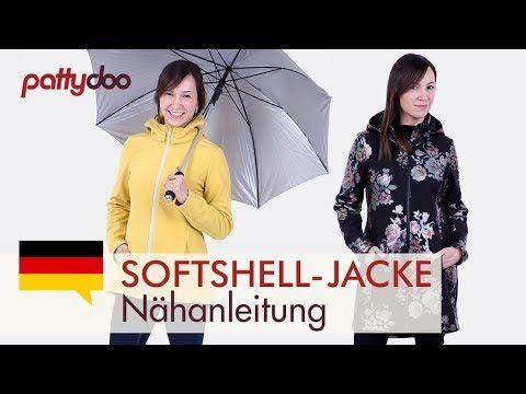 Anleitung Softshelljacke mit abnehmbarer Kapuze, Taschen und Reißverschl...