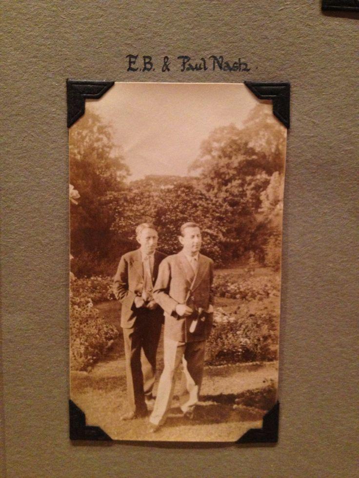 Edward Burra and Paul Nash photographed by Nash's patron & friend Clare Neilson (1935)
