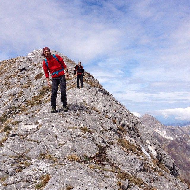 Le Alpi Apuane, montagne che si fanno amare. Grazie ragazzi per la simpatia e la bella escursione di oggi!