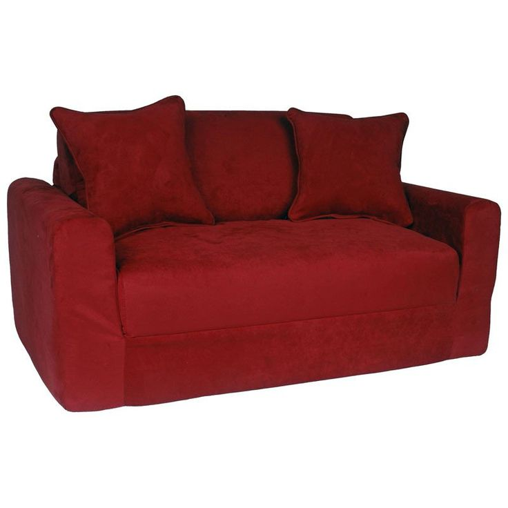 Fun Furnishings Micro Suede Sofa Sleeper | from hayneedle.com