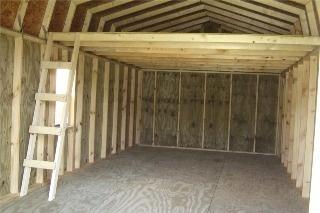 Building garage storage loft 2 garage pinterest for Storage building with loft
