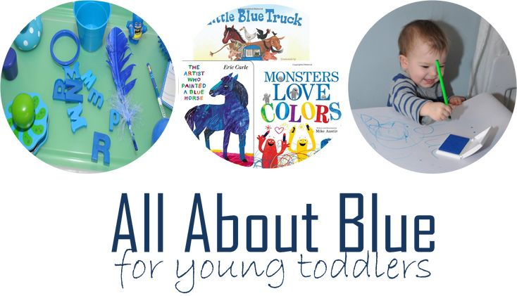 blue activities and books for learning colors