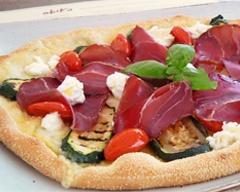 Benvenuta Pizza Special di Novembre!  Pizza con Mozzarella di Bufala,  Prosciutto di Cinghiale Toscano,  Zucchine Grigliate, Pomodorini Datterini, Ricotta di Bufala e Basilico Fresco