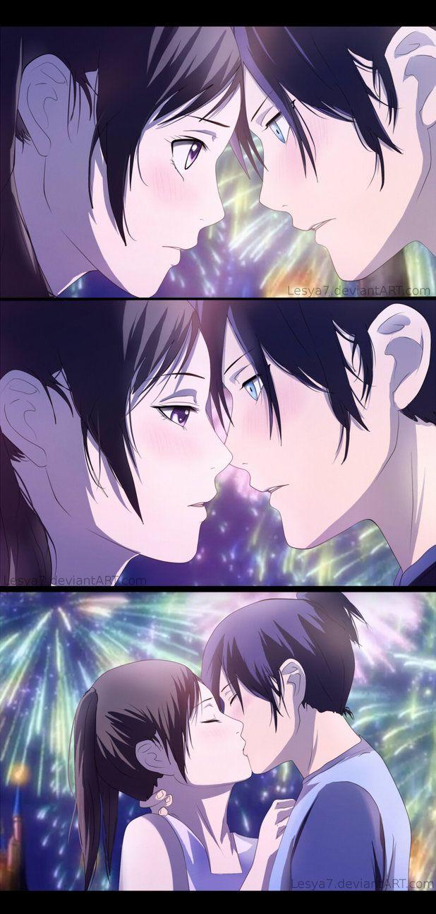 Noragami: Yato x Hiyori Kiss by Lesya7 on DeviantArt