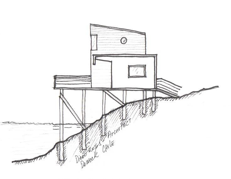 sketch - refuge - Chiloe