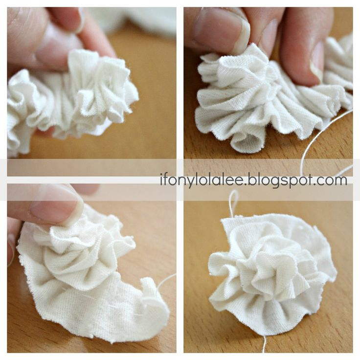 T-shirt flower (I'm planning on attaching some of these to a pillow I made out of a t shirt)