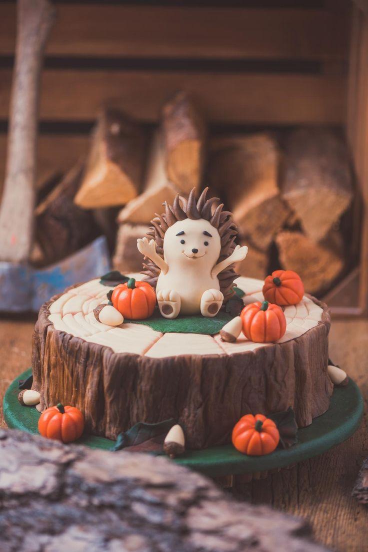 Motivkuchenigel im Herbst. Ein motivierendes Torten-Tutorial für einen Igel im Herbstau …   – Backen