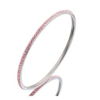 Merev kristály karkötő rózsaszín