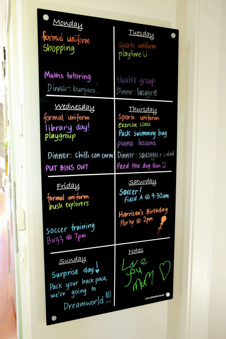 Fabulous Family Organisational System - easy and fun way to include the kids and keep all family members on track with what's going on