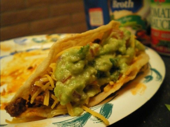 http://spicyskillet.wordpress.com/2008/03/23/from-scratch-beef-tacos/  Scratch Beef Tacos