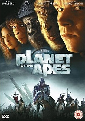 Planet of the Apes (2001) - An Air Force astronaut crash lands on a mysterious planet where evolved, talking apes dominant a race of primitive humans.