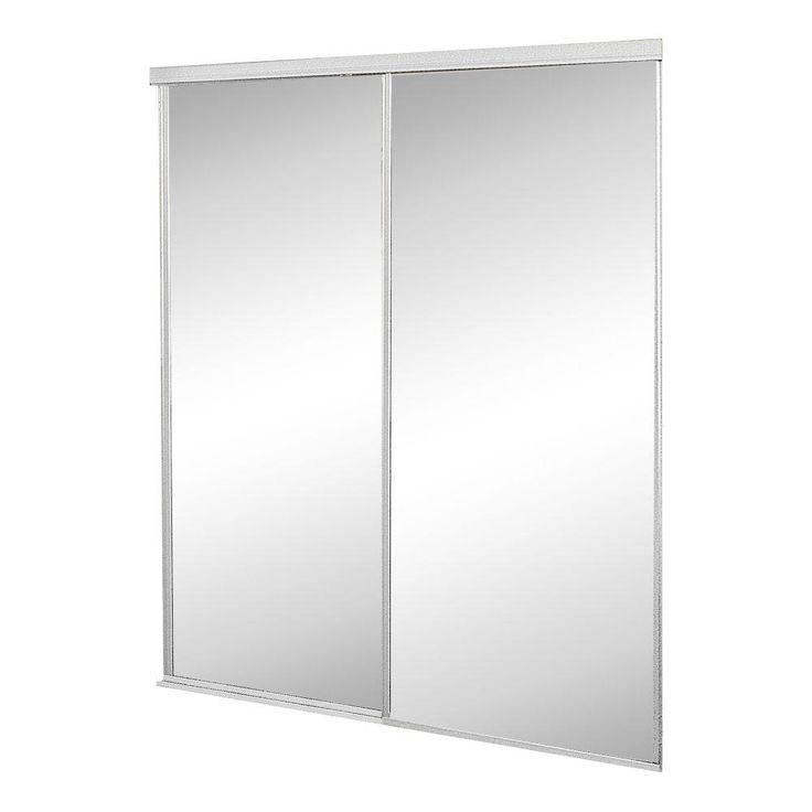 Contractors Wardrobe 72 in. x 96 in. Concord Mirrored White Aluminum Interior Sliding Door