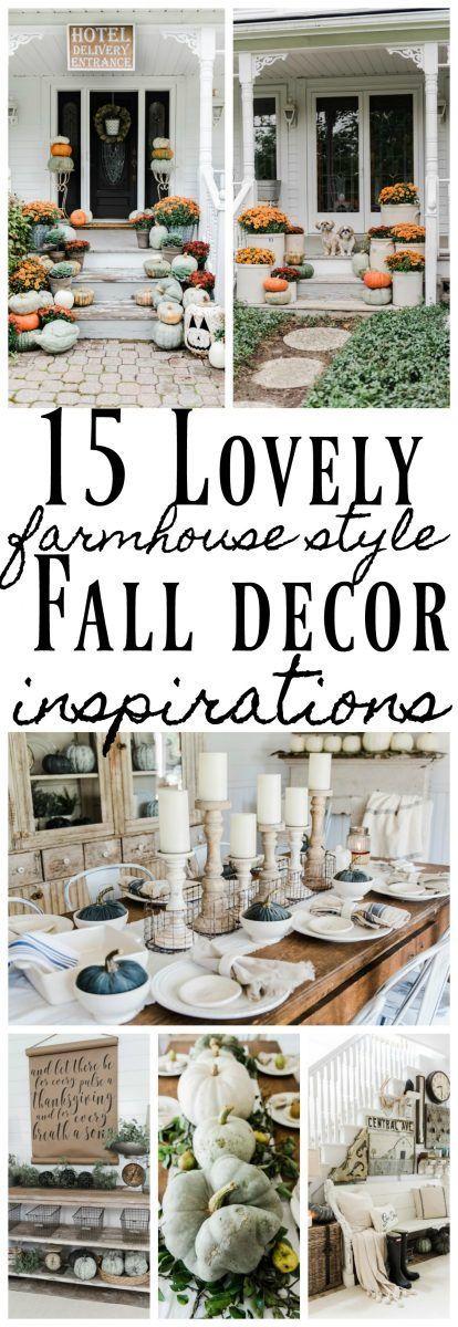 15 Lovely Farmhouse Style Fall Decor Ideas