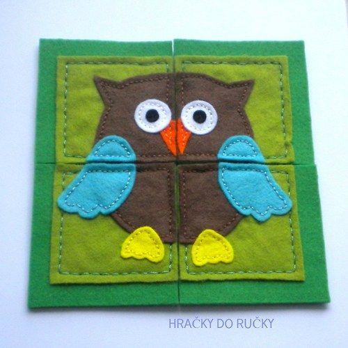 """""""Puzzle Sova pro nejmenší děti"""" (""""Owl puzzle for the smallest kids"""") by Hračky do ručky"""