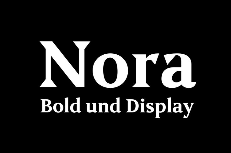 Nora – Bold & Display on Behance