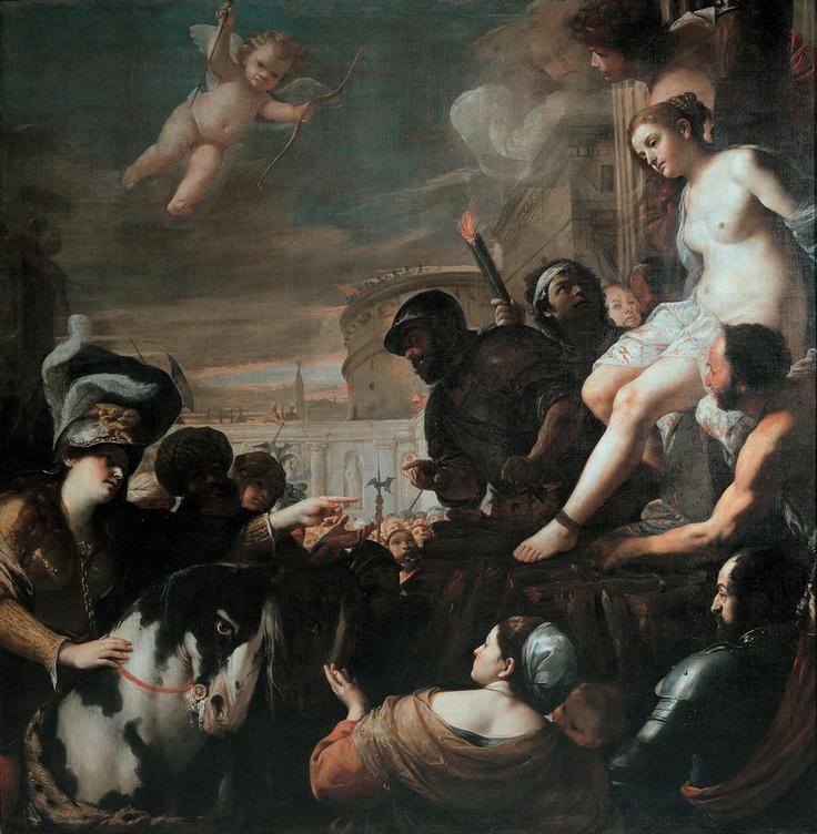 Mattia Preti, Clorinda libera Olindo e Sofronia dal rogo  - palazzo rosso- Genova- 1640