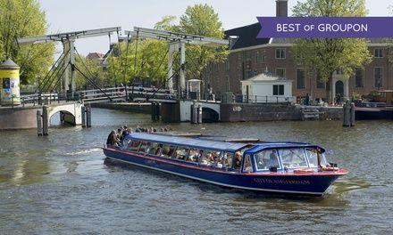 Amsterdam : Croisière A/R de 75 minutes sur les canaux de la ville pour 1 à 4 personnes