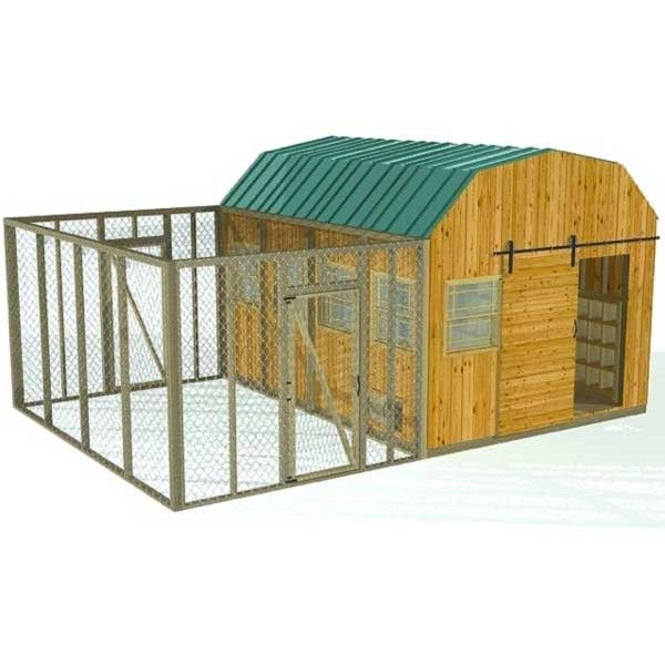 50 best how to build a chicken coop images on pinterest for Large chicken coop ideas