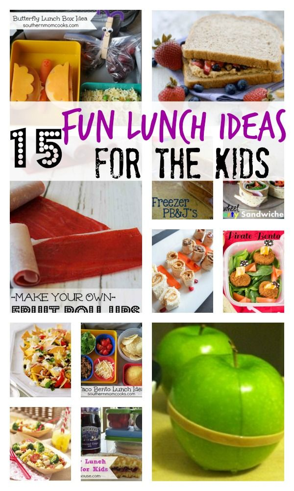 Get ready for back to school lunches with these 15 fun lunch ideas for kids!