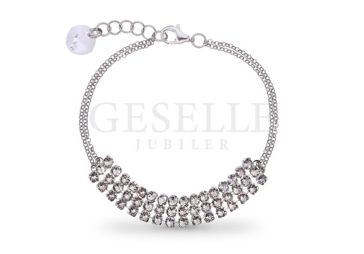 Najmodniejsza bransoletka ze srebra pr. 925 z kryształkami Swarovski ELEMENTS w odcieniu Crystal   SREBRO \ Bransoletki od GESELLE Jubiler